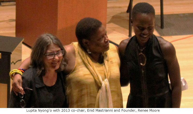 Enid Mastrianni, Renee Moore and Lupita Nyong'o