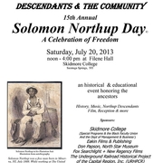Signed Solomon Northup Day Poster